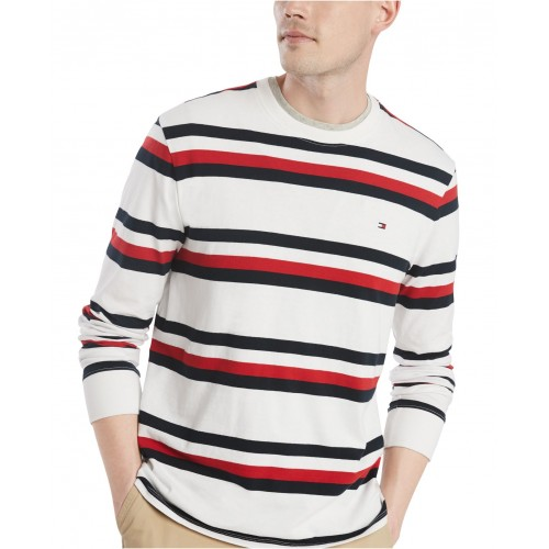 타미힐피거 Mens Wooster Stripe T-Shirt