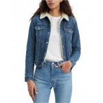 Womens Original Sherpa Trucker Denim Jacket