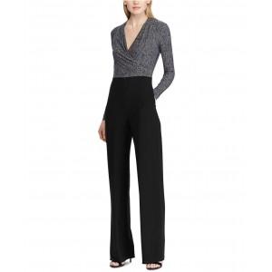 Petite Jersey Long-Sleeve Jumpsuit