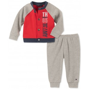 Baby Boys 2-Pc. Colorblocked Cardigan & Pants Set