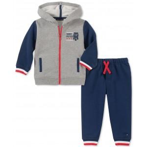 Baby Boys 2-Pc. Colorblocked Hoodie & Pants Set