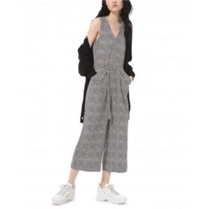 Printed D-Ring Cropped Jumpsuit, Regular & Petite Sizes
