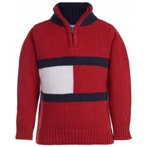 Baby Boys Cotton Flag 1/4-Zip Sweater
