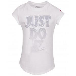 Little Girls Just Do It-Print Cotton T-Shirt