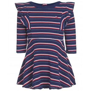 Baby Girls Striped Ribbed-Knit Dress & Panty