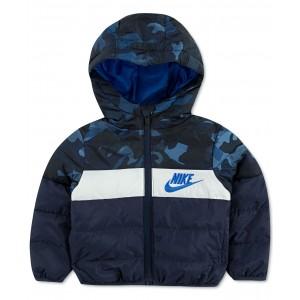 Little Boys Hooded Colorblocked Puffer Jacket