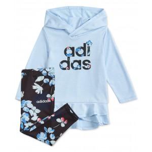 Baby Girls 2-Pc. Peplum Hoodie Top & Floral-Print Leggings Set