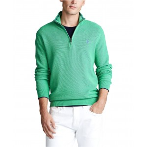 Mens Textured Quarter-Zip Sweater