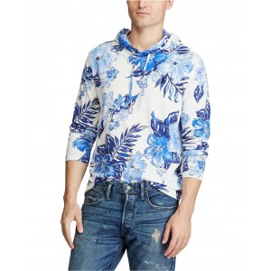 Mens Floral Jersey Hooded T-Shirt