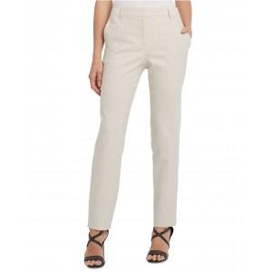 Striped Flat-Front Straight-Leg Dress Pants