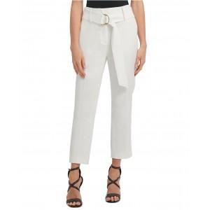 Petite High-Waist D-Ring Belt Dress Pants