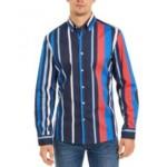 Mens Striped Button-Down Shirt