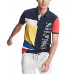 Mens Custom-Fit Hughes Colorblock Logo Polo Shirt