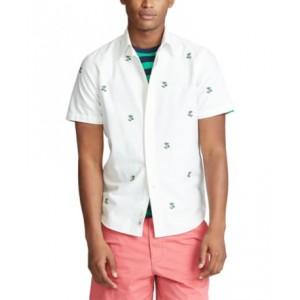 Mens Big & Tall Classic Fit Palm Tree Shirt