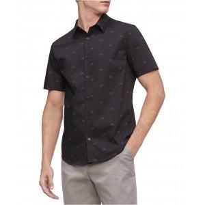 Mens Short Sleeve Monogram Strech 50S Shirt