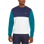 Men's Regular Fit Colorblock Mixed Pique French Terry Sweatshirt