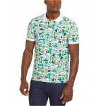 Mens Croco Series Jeremyville Croc Graphic Printed Polo