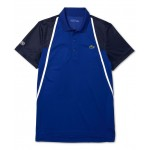 Mens Sport Short Sleeve Colorblock Polo Shirt