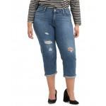 Trendy Plus Size Tapered Destructed Boyfriend Jeans