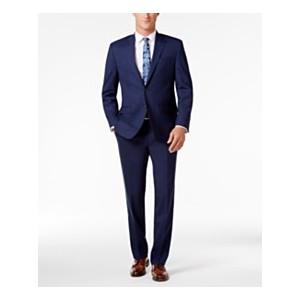 Mens Classic-Fit Navy UltraFlex Suit