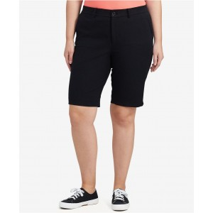 Plus Size Stretch Twill Shorts