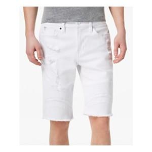 Mens Slim-Fit Pintuck Moto Shorts