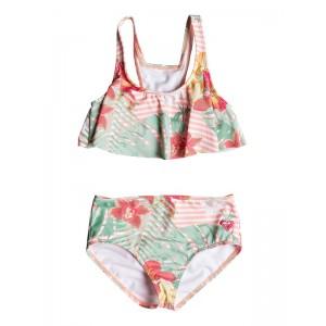 Girl's 2-6 Lush Florals Flutter Bikini Set