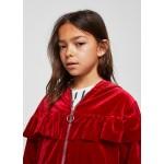 Ruffle velvet jacket