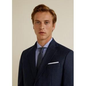 Slim-fit wool suit blazer