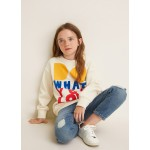 Velvet message sweatshirt