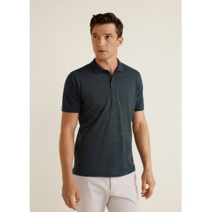 Contrast wool polo shirt