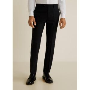 Slim-fit travel suit trousers