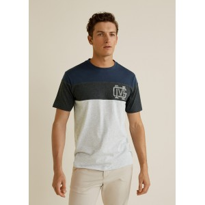 Contrasting cotton-blend t-shirt