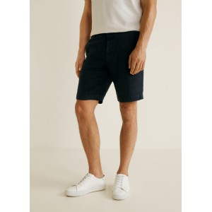 Linen chino bermuda shorts