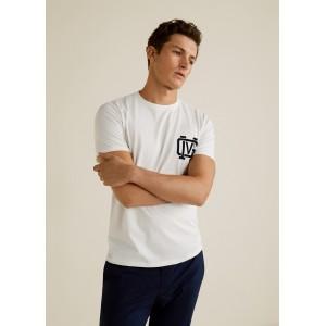 Printed cotton-blend t-shirt