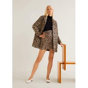 Unstructured leopard coat