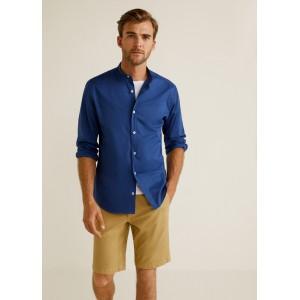 Textured cotton-blend bermuda shorts