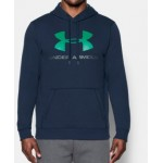 Mens UA Rival Fleece Fitted Graphic Hoodie