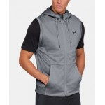 Mens Armour Fleece Sleeveless Full Zip Hoodie