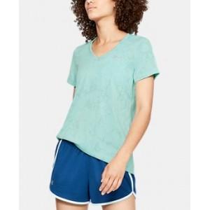 Womens UA Tech Short Sleeve V-Neck Marble Jacquard