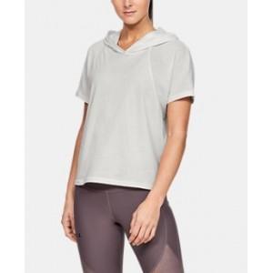 Womens UA Unstoppable Short Sleeve Hoodie