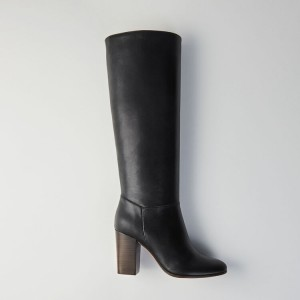 119 FLITY Heeled smooth leather boots