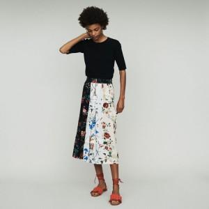 JINGER Midi skirt with pin print
