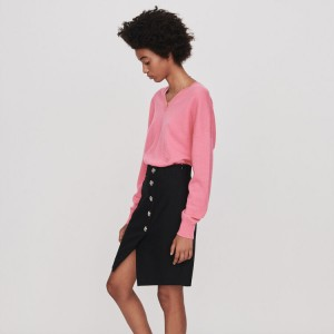 119JIPY Pencil skirt with buttons