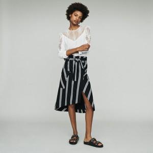 JAKILA Midi skirt with stripes