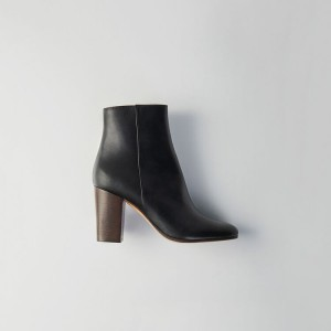 119 FLIXY Heeled smooth leather booties