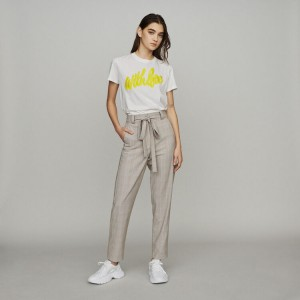 PITSY Belted checked pants