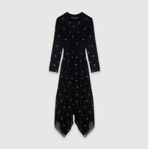 119RABILO Cashmere scarf dress with strass motif