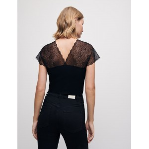 119LILIO Jersey top with lace trim