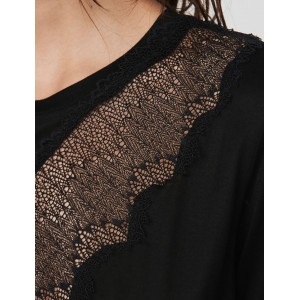 119TALENT Tee shirt with lace trim